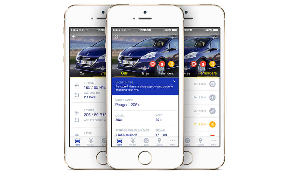 michelin mycar ios and android