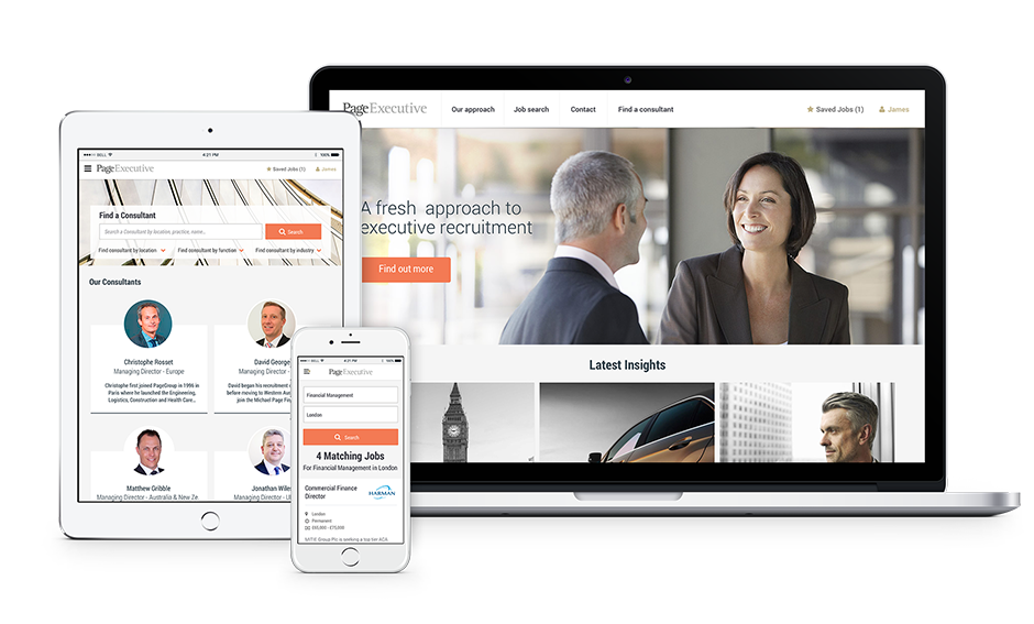 responsive page executive