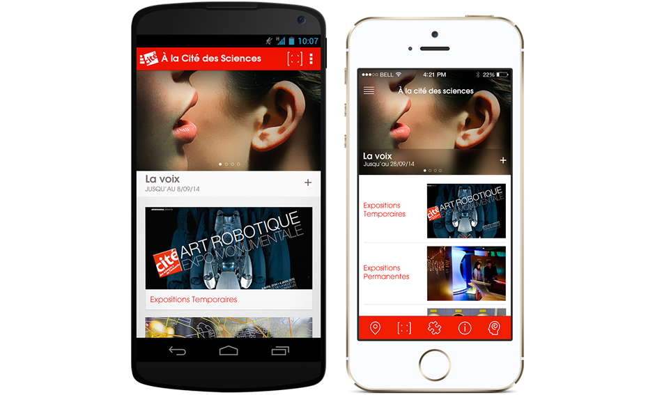 universcience android & iOs
